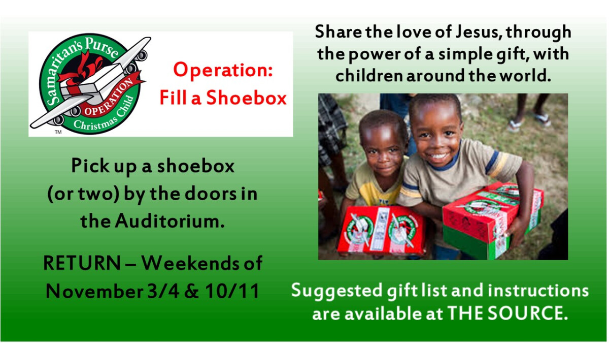 Operation Christmas Child - Returns Due