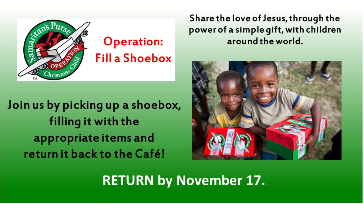 Operation: Fill a Shoebox