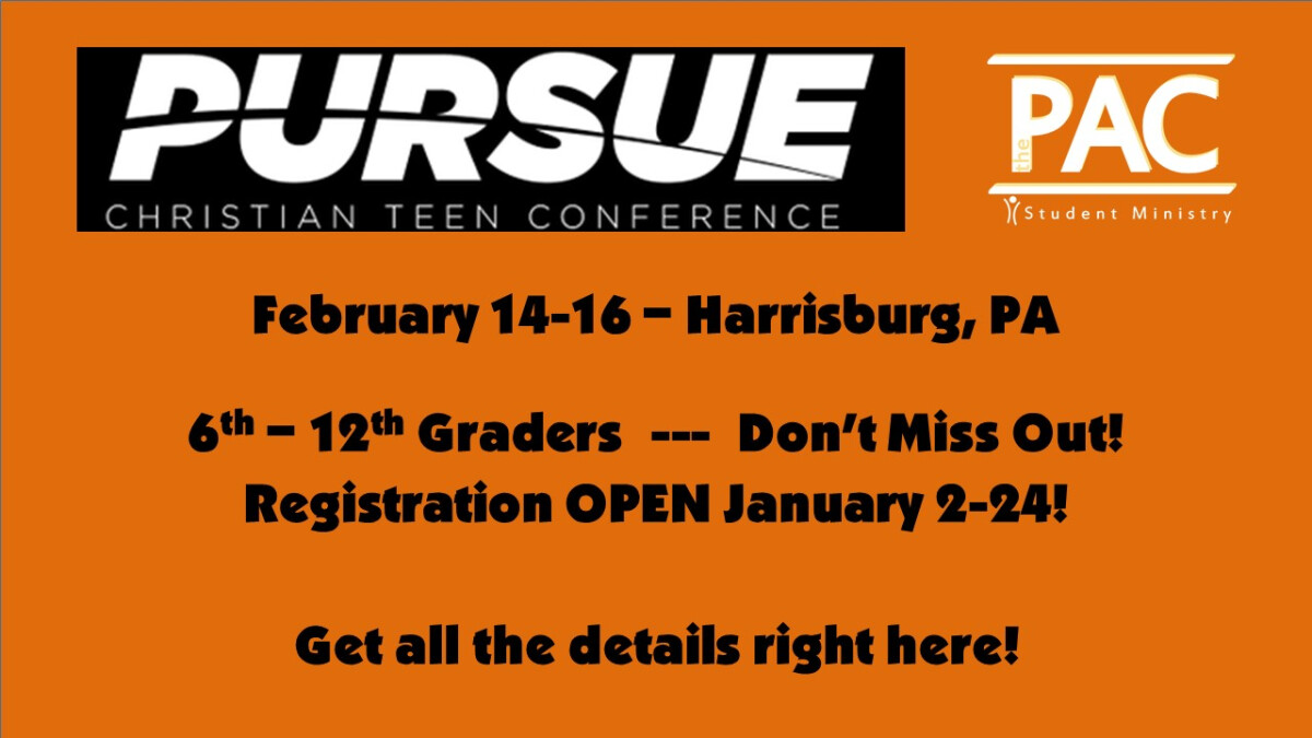 Pursue Christian Teen Conference (PCTC) 2020