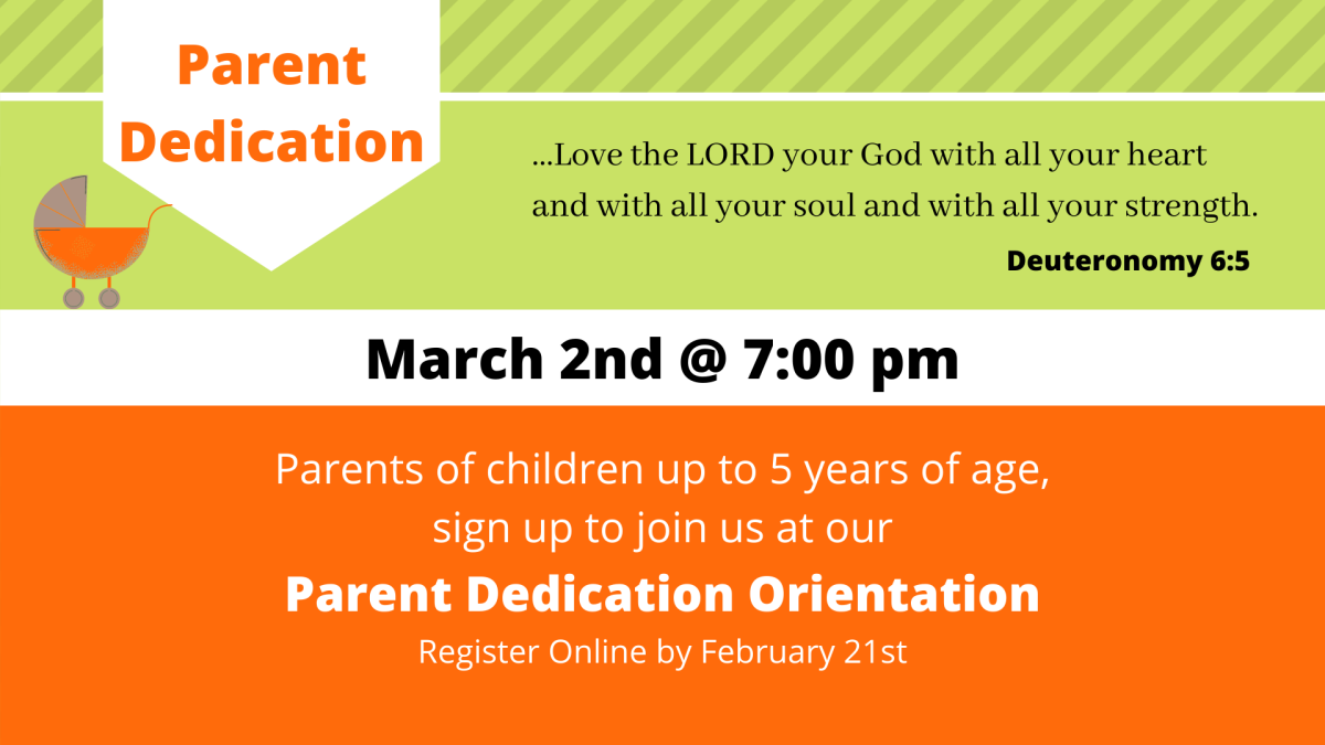 Parent Dedication Orientation Class